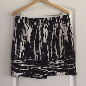 Inc. International faux wrap skirt